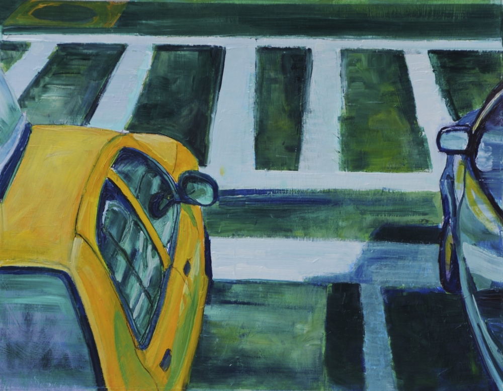 // Bruno Truyts // visual artist // - Yellow cab NY - 40 X 50 cm - Acryl & oil on board - 2013