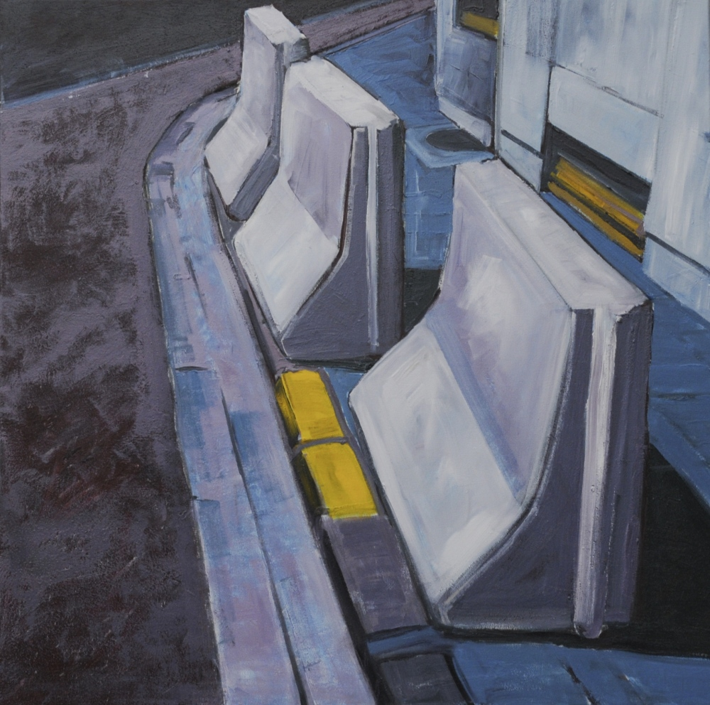 // Bruno Truyts // visual artist // - Jersey blocks in Antwerp - 80 X 80 cm - Acryl & oil on canvas