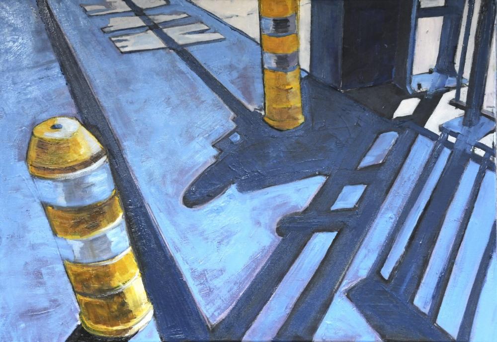 // Bruno Truyts // visual artist // - Sideways. Parking Ostend - 50 X 70 cm - Acryl & oil on canvas - 2011