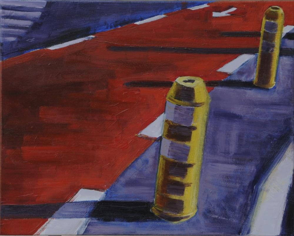 // Bruno Truyts // visual artist // - Sideways. Bike way - 40 X 50 cm - Acryl & oil on canvas - 2012