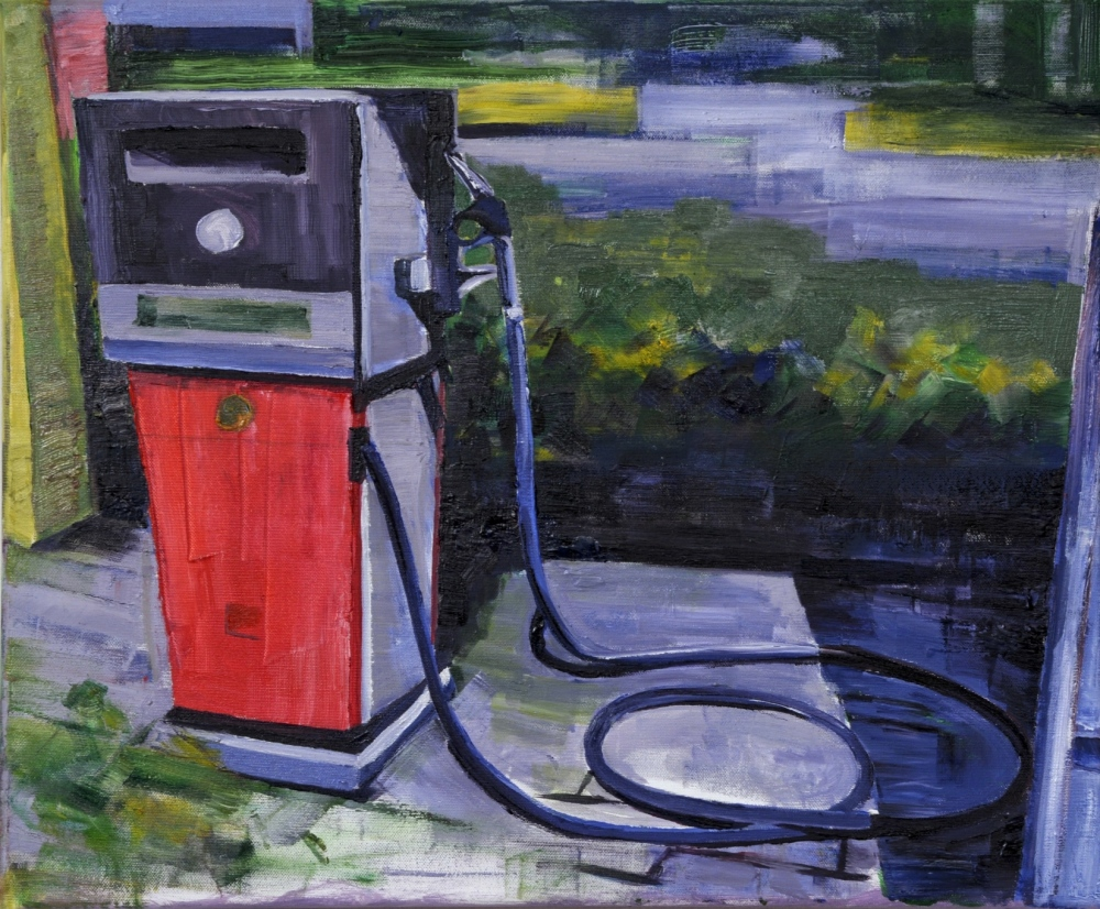 // Bruno Truyts // visual artist // - Abandoned gas station Antwerp - 50 X 60 cm - Oil on canvas - 2010