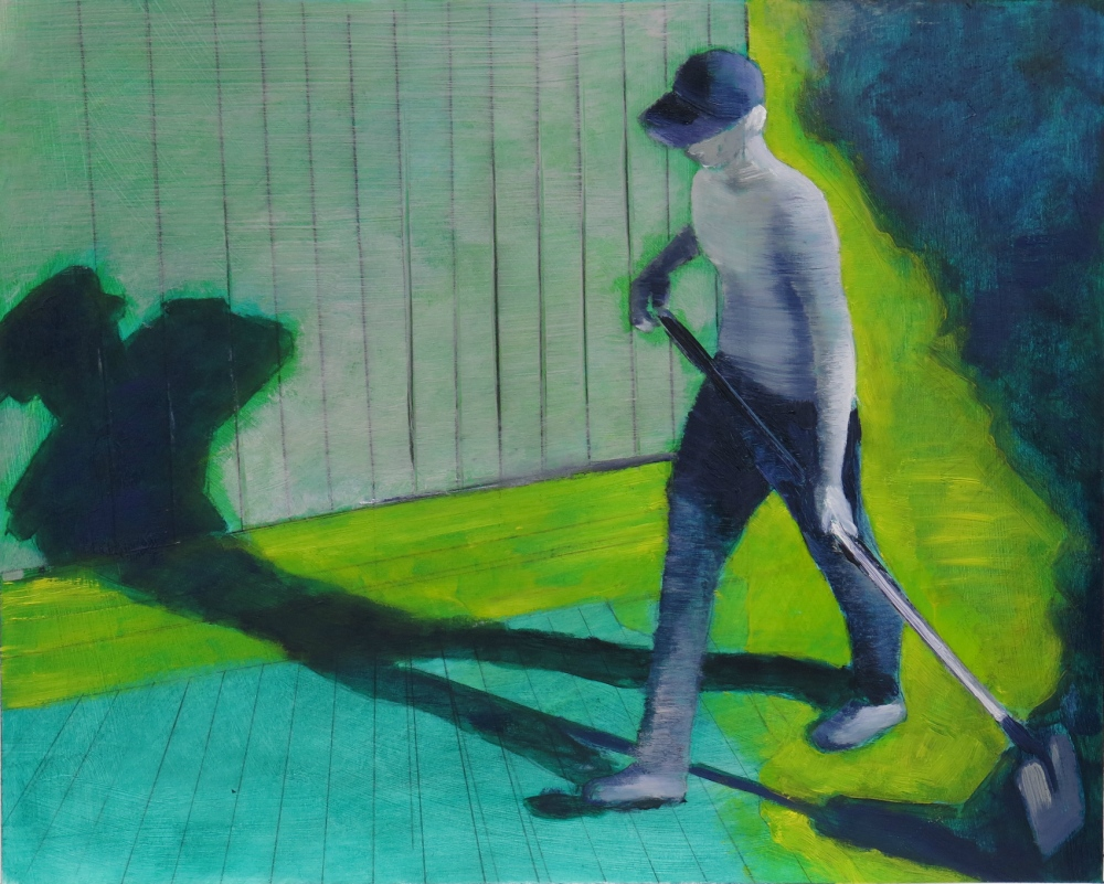 // Bruno Truyts // visual artist // - At work. Beach boy - 40 X 50 cm - Acryl & oil on canvas - 2013