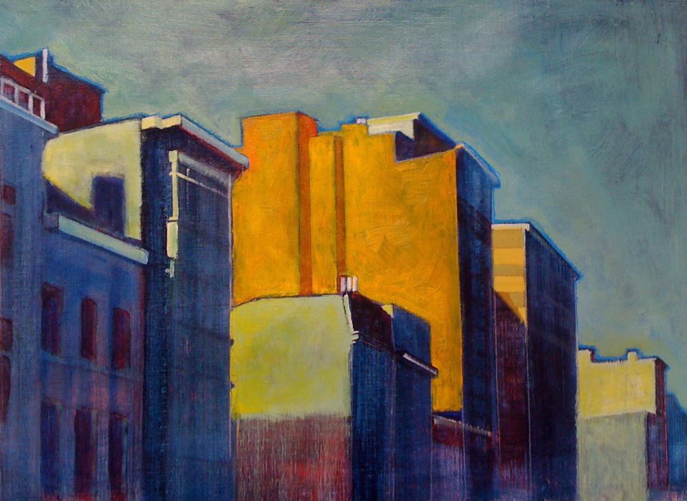 // Bruno Truyts // visual artist // - Pelikaanstraat #2 Antwerpen - 84 X 58 cm - Acryl & oil on canvas - 2014