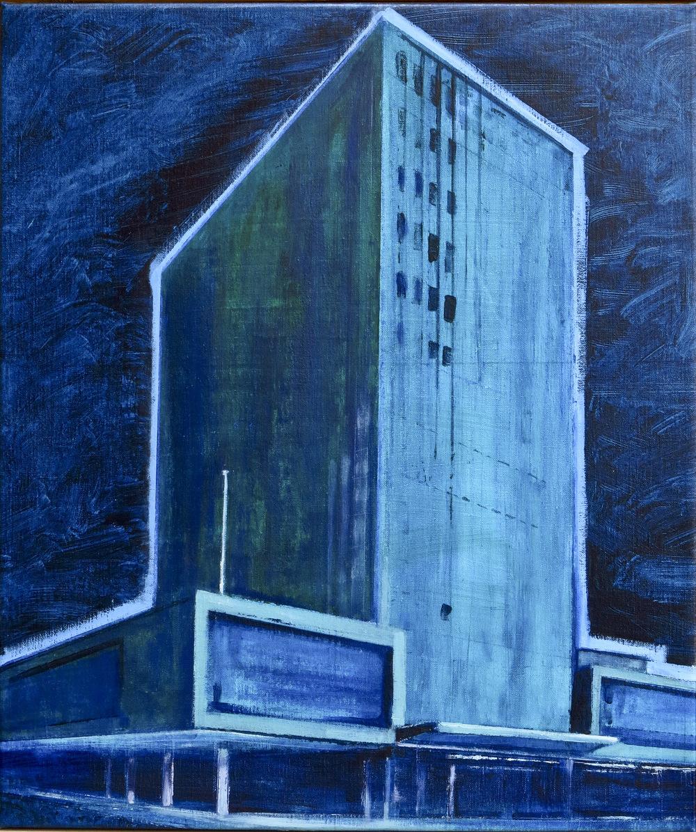 // Bruno Truyts // visual artist // - Office building bxl - 60 X 69 cm - Acryl & oil on linnen - 2015