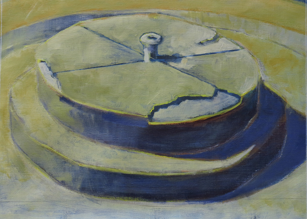 // Bruno Truyts // visual artist // - Platform - 50 X 70 cm - Acryl & oil on linnen - 2015