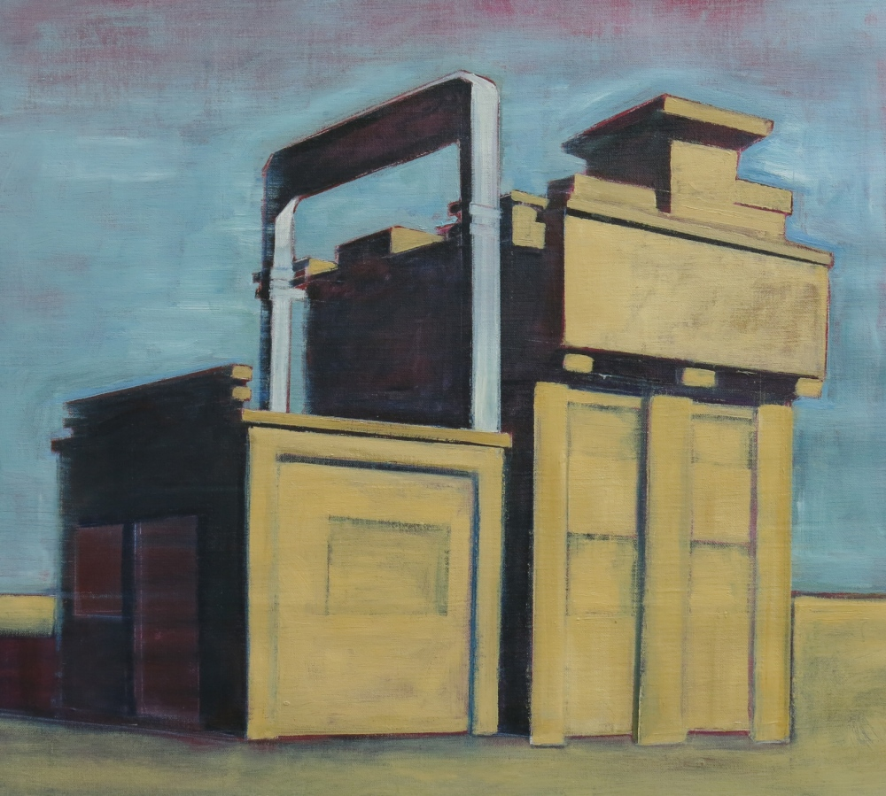 // Bruno Truyts // visual artist // - Industrial heritage - 75 X 80 cm - Oil on linnen - 2016