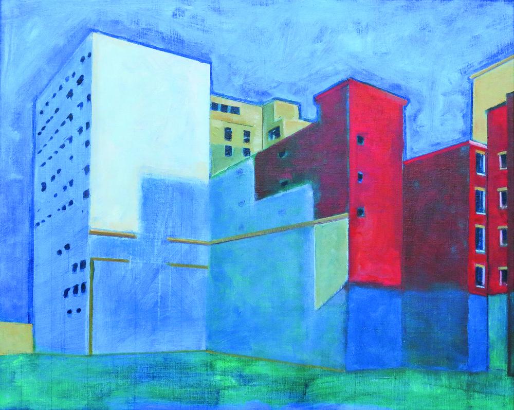 // Bruno Truyts // visual artist // - Pelikaanstraat #1 Antwerpen - 85 X 68 cm - Acryl & oil on canvas - 2014