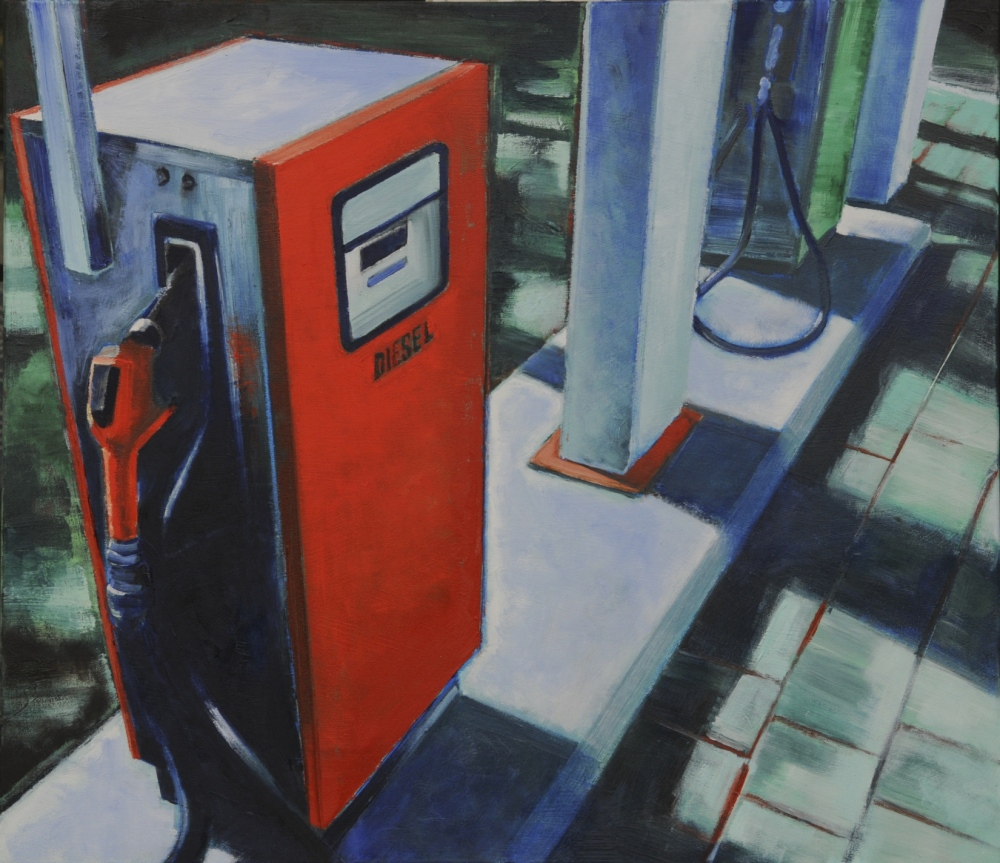// Bruno Truyts // visual artist // - Gas station (red) 70 X 80 cm - Acryl & oil on canvas - 2011
