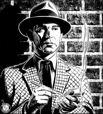 Geoffrey Brittingham all-nite illustration - Dragnet