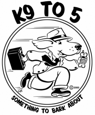 Geoffrey Brittingham all-nite illustration - K9 To 5.