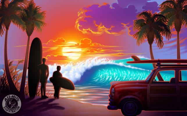 Geoffrey Brittingham all-nite illustration - The Last Wave