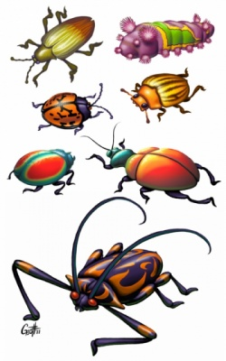 Geoffrey Brittingham all-nite illustration - Bugs