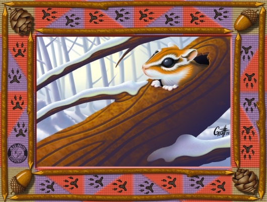 Geoffrey Brittingham all-nite illustration - Chipmunk