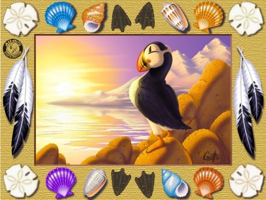 Geoffrey Brittingham all-nite illustration - Puffin