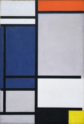 Dilokrit Barose Photos - Composition with Red, Blue , Black, Yellow and Grey by Piet Mondrian
