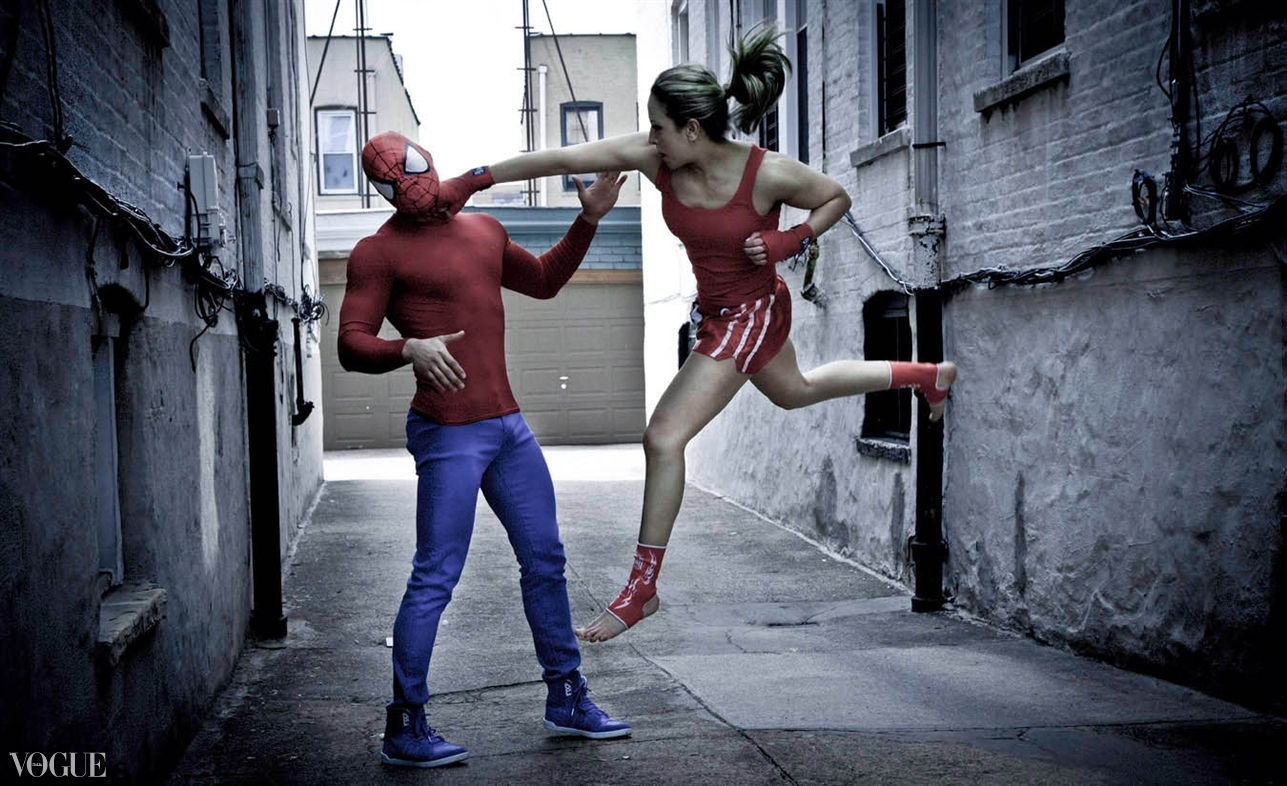 Dilokrit Barose Photos - Ilham jump punching SpiderMan.