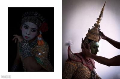 Dilokrit Barose Photos - Classical Thai Dance Costumes As Dewi ( Female Deity) And Dewa ( Male Deity)