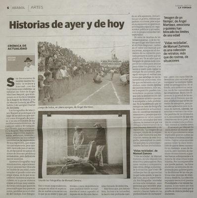 manuel zamora - Vidas Recicladas. Pedro Soler Diario La Verdad de Murcia