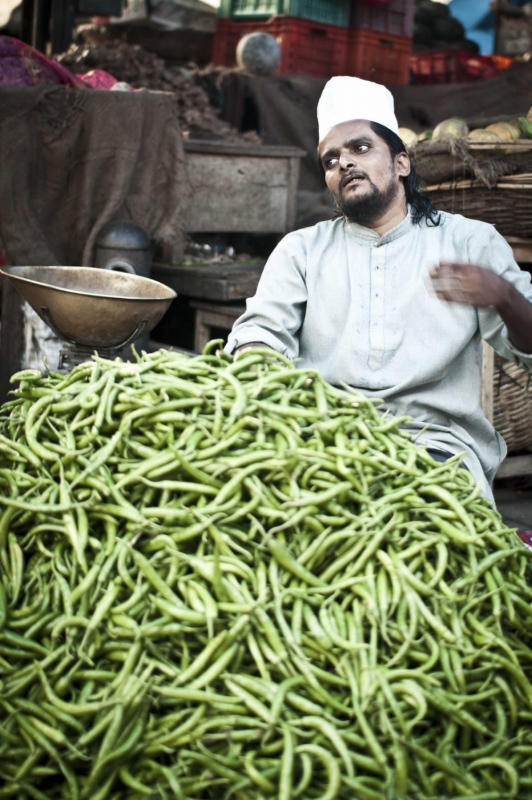 manuel zamora - Mercado de Devayara-Mysore. India