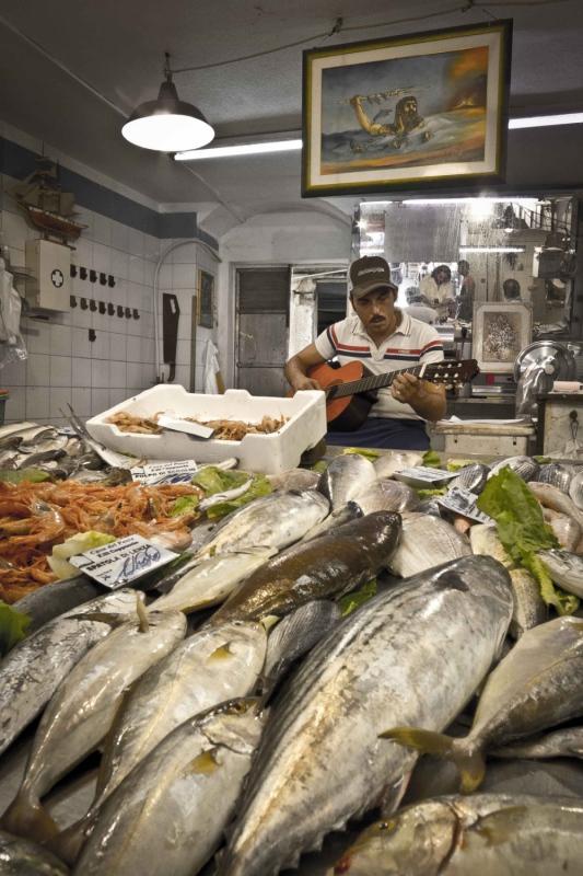 manuel zamora - Mercado de Siracusa. Italia