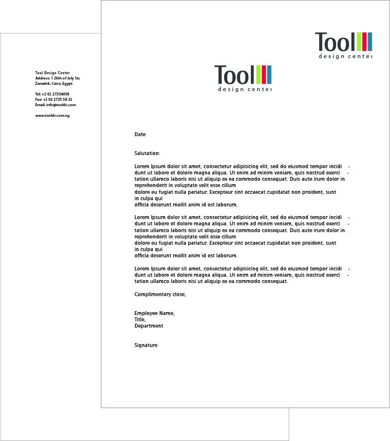 Anna Nicolai - Graphic Designer - Letterhead