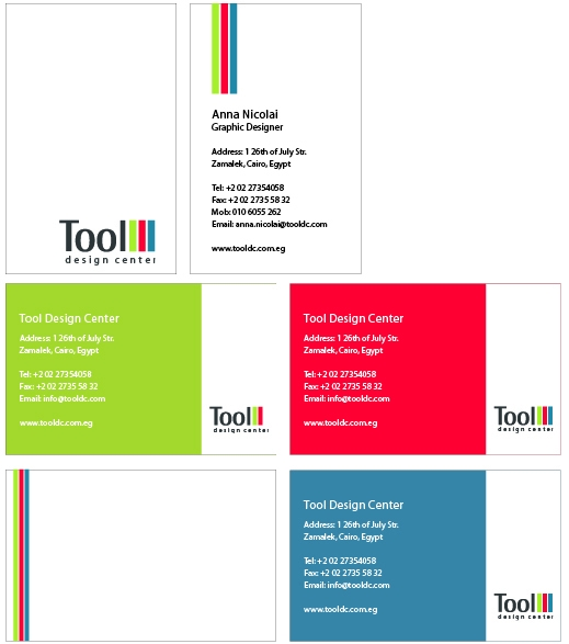 Anna Nicolai - Graphic Designer - Business Cards