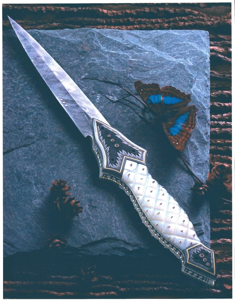 The Art of Van Barnett - Impact - 11 inch folding dagger, 2000