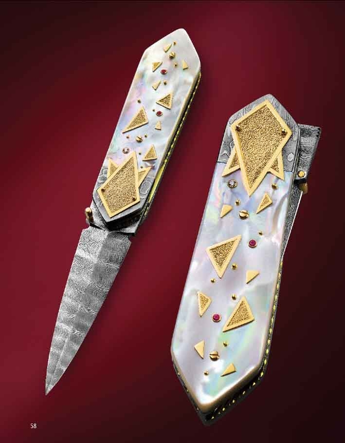 The Art of Van Barnett - One of a set of two. They were made for our book. I made my version, and Dellana made hers, the only set of knives we have ever made.