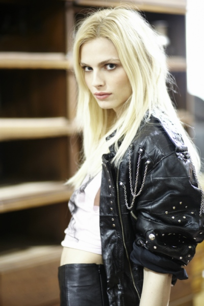 Audrey Stimpson - Andrej Pejic. Galore Magazine Party