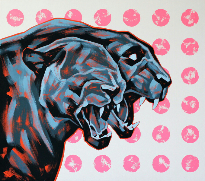 Ville Lehtinen - Hear us roar, oil on canvas, 75cm x 85cm, 2019