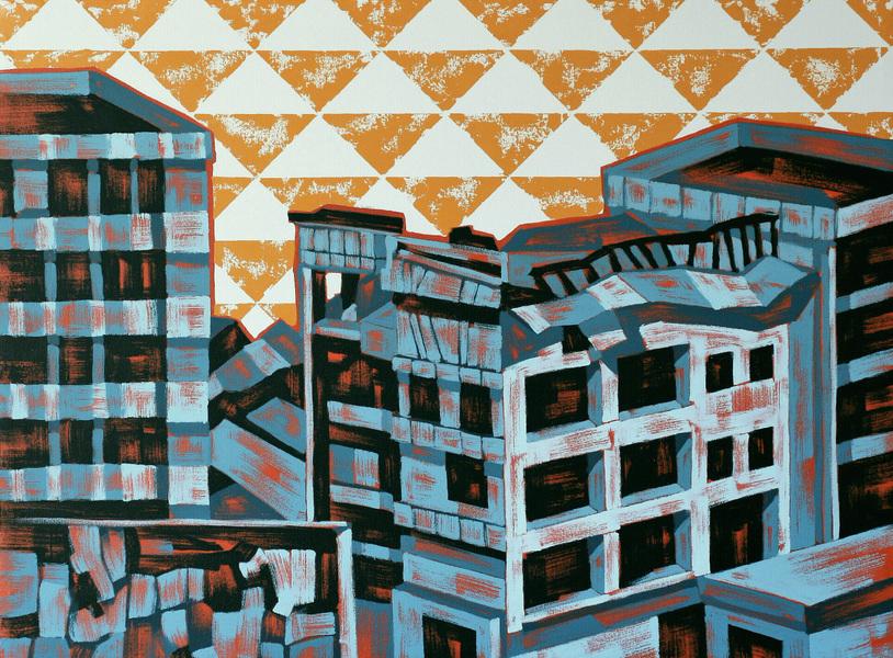 Ville Lehtinen - Welcome to the neighborhood, oil on canvas, 75cm x 100cm, 2019