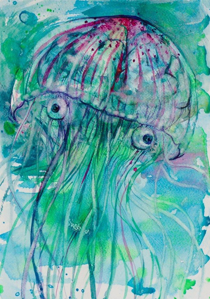 Manami Takamatsu - Ich habe keinen Schmerz  2013, Wasserfarbe auf Papier, 29,5×21cm