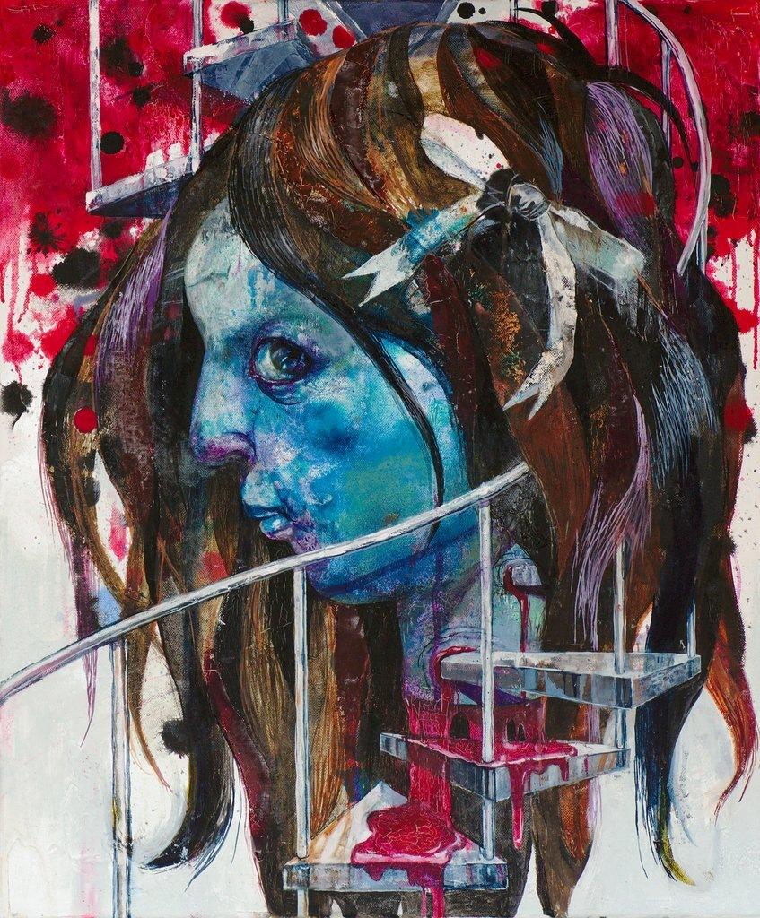 Manami Takamatsu - ohne Ende  2013, Ölfarbe auf Leinwand, 60×50cm
