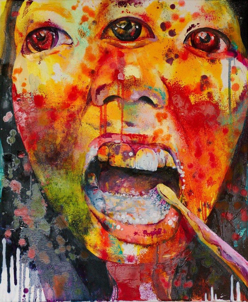 Manami Takamatsu - der Tag der Routine  2013, Ölfarbe auf Leinwand, 60×50cm