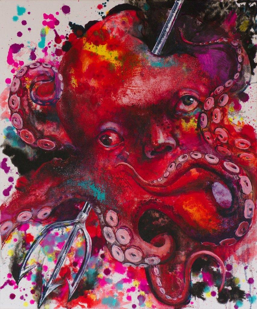 Manami Takamatsu - Ich habe keinen Schmerz.  2013, Ölfarbe auf Leinwand, 60×50cm