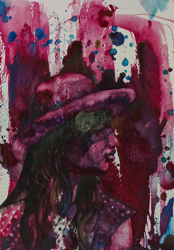 Manami Takamatsu - der Sommer  2013, Wasserfarbe auf Papier, 25×17,5cm