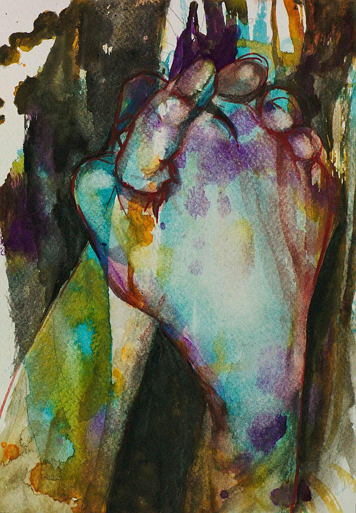 Manami Takamatsu - die Körpertemperatur  2013, Wasserfarbe auf Papier, 25×17,5cm