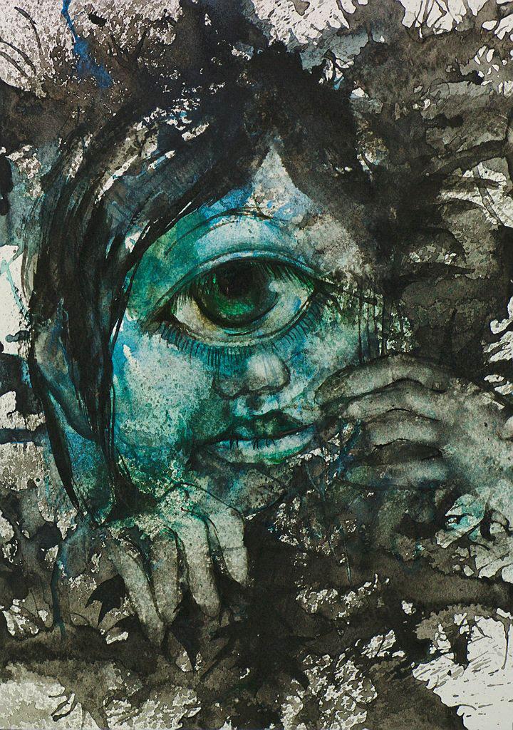 Manami Takamatsu - das Gepränge  2013, Wasserfarbe auf Papier, 29,5×21cm