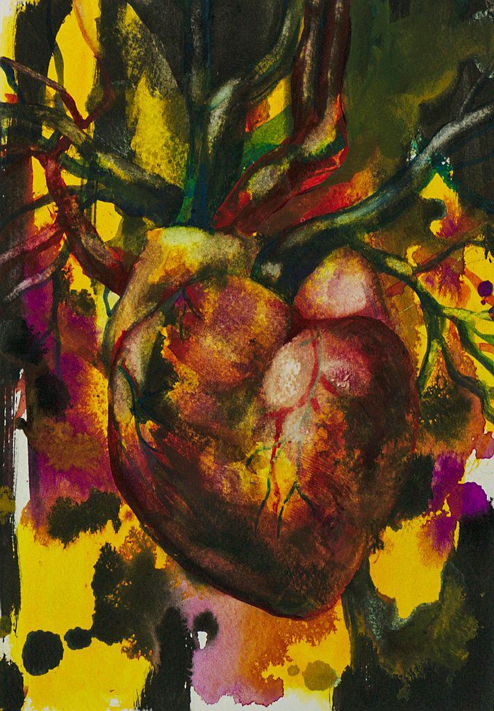 Manami Takamatsu - Herrschaft des Unbewustsein  2013, Wasserfarbe auf Papier, 25×17,5cm