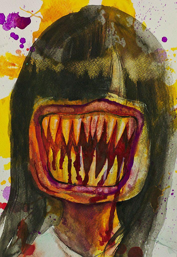 Manami Takamatsu - der Tag der Routine  2013, Wasserfarbe auf Papier, 25×17,5cm