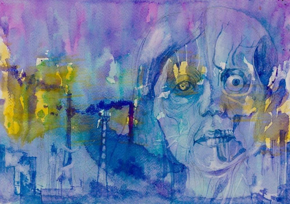 Manami Takamatsu - Ich warte auf den Weltuntergang.  2013, Wasserfarbe auf Papier, 29,5×21cm