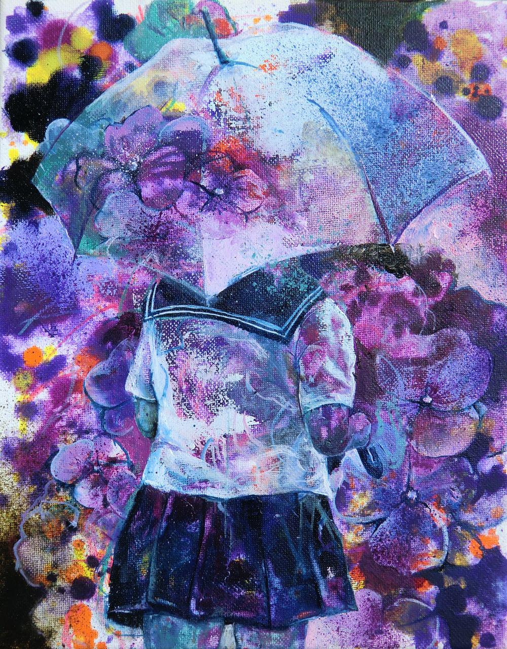 Manami Takamatsu - Ich liebe die Liebe.  2015, Ölfarbe auf Leinwand, 30×24cm