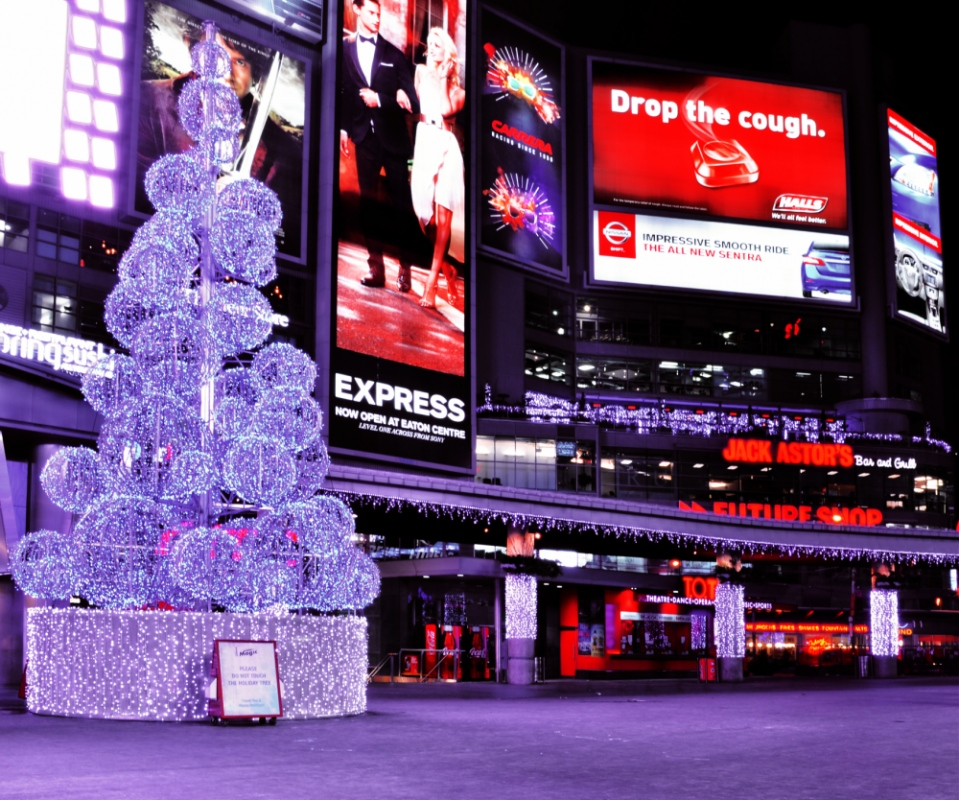 Philip Kim - Dundas Square, Christmas