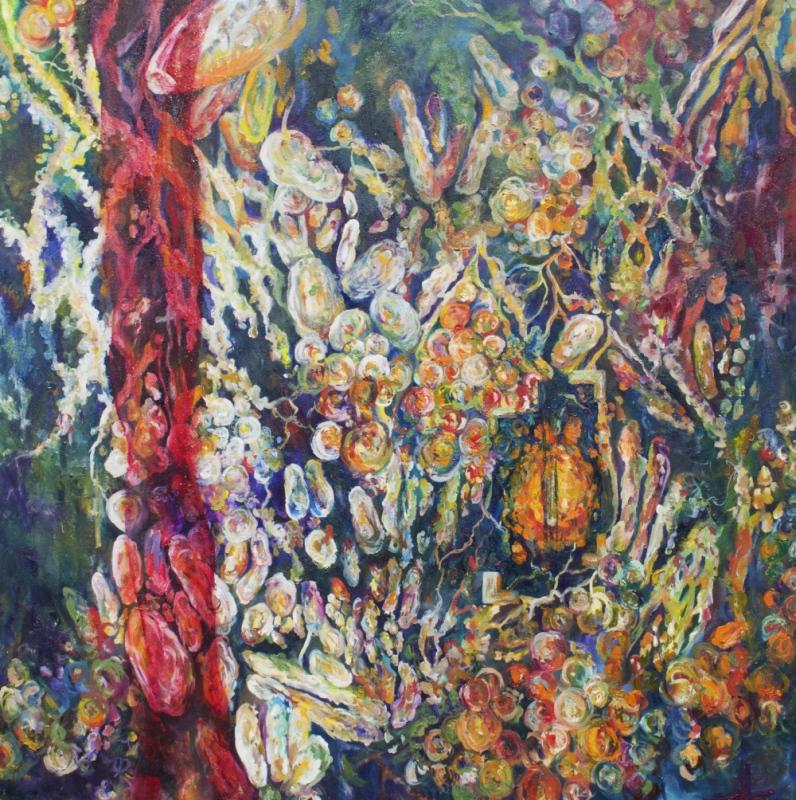 Daniela Guarin - Cholerae, oil on canvas, 36x36