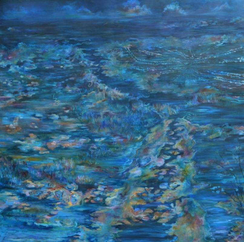 Daniela Guarin - Ocean Melancholy, oil on canvas, 5x5, 2012