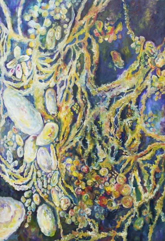 Daniela Guarin - Maltophilia, oil on canvas, 24x48