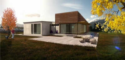 lukas cimprich - residential house STATIC /two roof pitches/