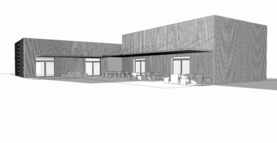 lukas cimprich - design of the facade for fastfood in Christchurch