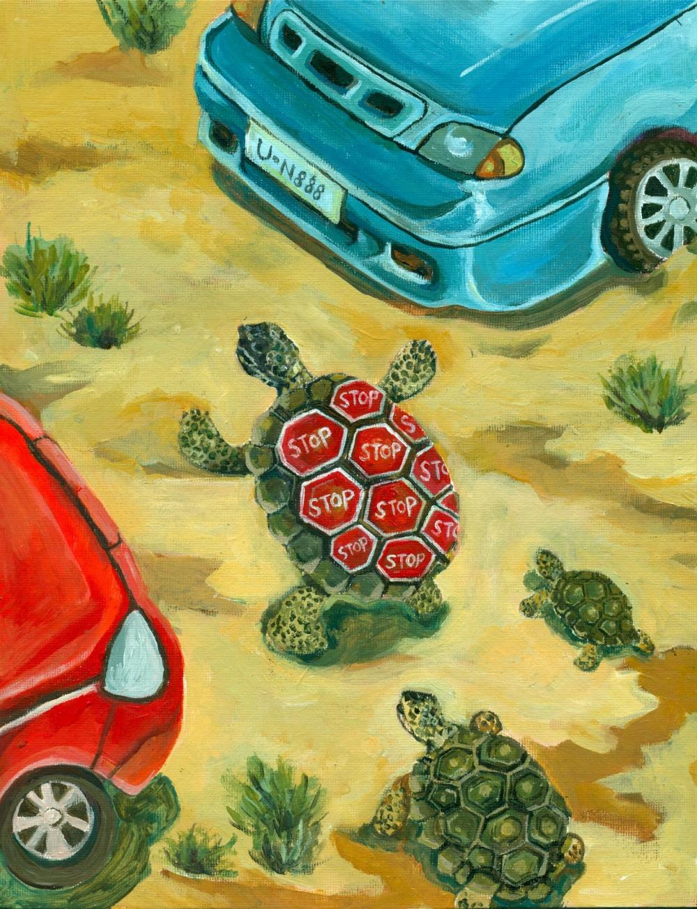 Sonya Cao - desert traffic
