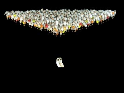 papier plié par Nobuko MURAKAMI - Chant de la Chouette 2006